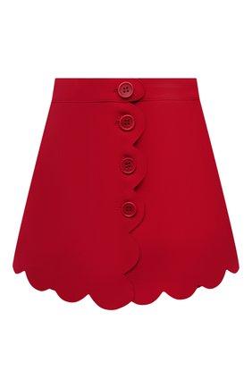 Женская юбка-шорты REDVALENTINO красного цвета, арт. VR3RFE30/1FR | Фото 1
