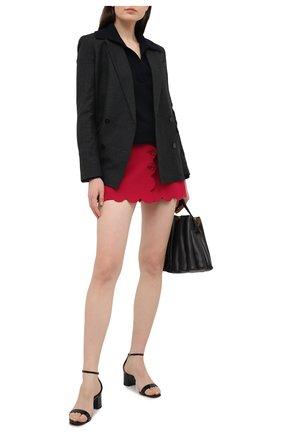 Женская юбка-шорты REDVALENTINO красного цвета, арт. VR3RFE30/1FR | Фото 2