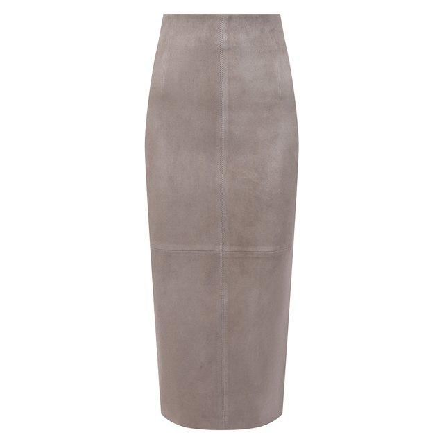 Кожаная юбка Brunello Cucinelli