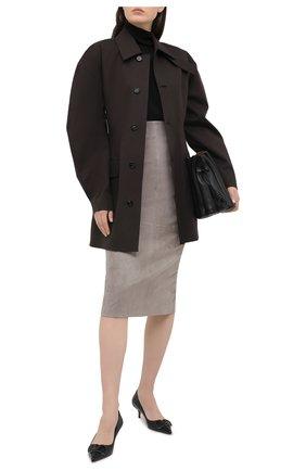 Женская кожаная юбка BRUNELLO CUCINELLI серого цвета, арт. M0W30G3063 | Фото 2