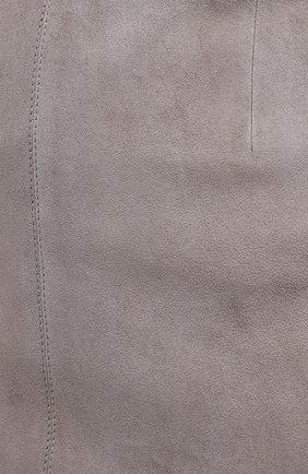 Женская кожаная юбка BRUNELLO CUCINELLI серого цвета, арт. M0W30G3063 | Фото 5