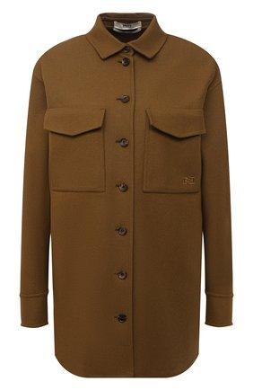 Женская куртка из шерсти и кашемира BALLY хаки цвета, арт. L2BA488F-4311/551 | Фото 1
