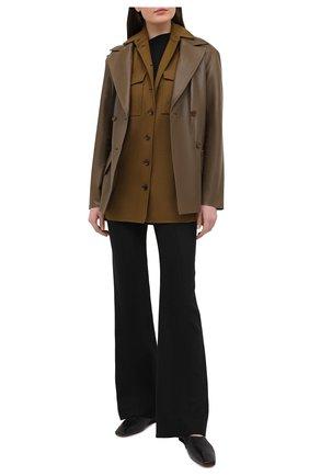 Женская куртка из шерсти и кашемира BALLY хаки цвета, арт. L2BA488F-4311/551   Фото 2