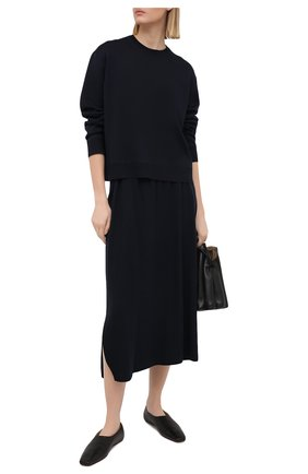 Женская кашемировая юбка LORO PIANA темно-синего цвета, арт. FAL5211 | Фото 2