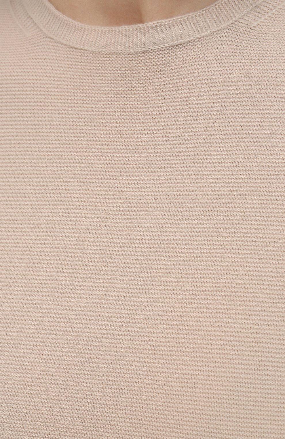 Женский кашемировый топ LORO PIANA светло-бежевого цвета, арт. FAL6251 | Фото 5