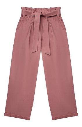 Детские хлопковые брюки BRUNELLO CUCINELLI розового цвета, арт. BA169P026C   Фото 1