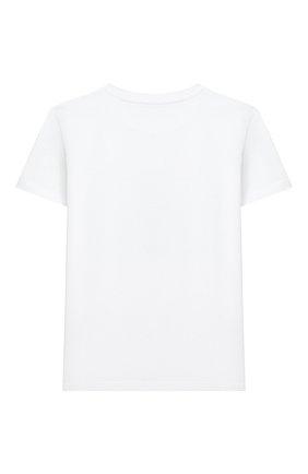 Детский хлопковая футболка IL GUFO белого цвета, арт. P21TS274M0014/10A-12A | Фото 2