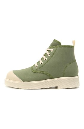 Детские текстильные ботинки IL GUFO хаки цвета, арт. G945/CASTIGLIA/31-34 | Фото 2 (Материал внутренний: Натуральная кожа; Материал внешний: Текстиль)