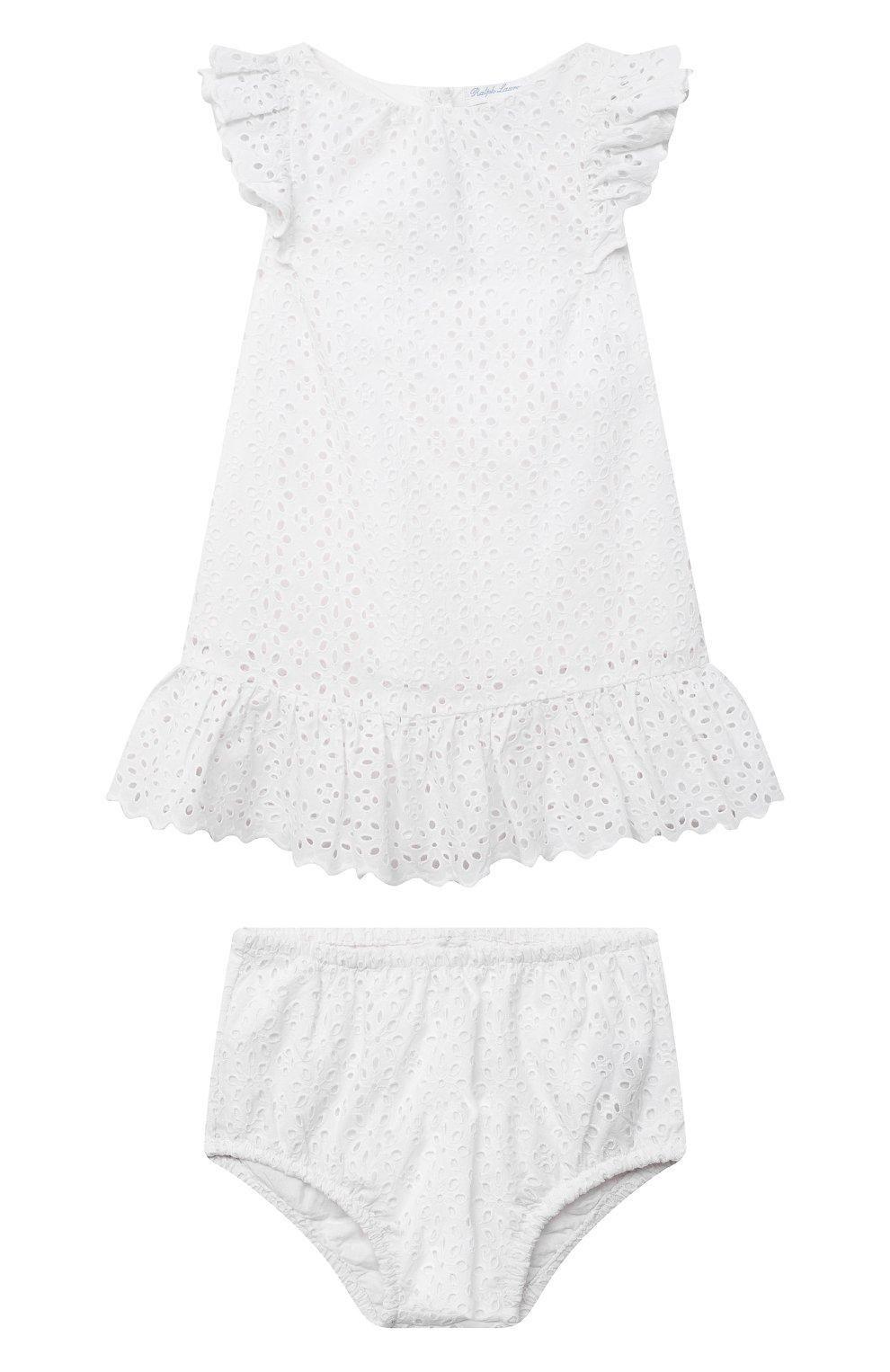 Женский комплект из платья и шорт POLO RALPH LAUREN белого цвета, арт. 310834814 | Фото 1