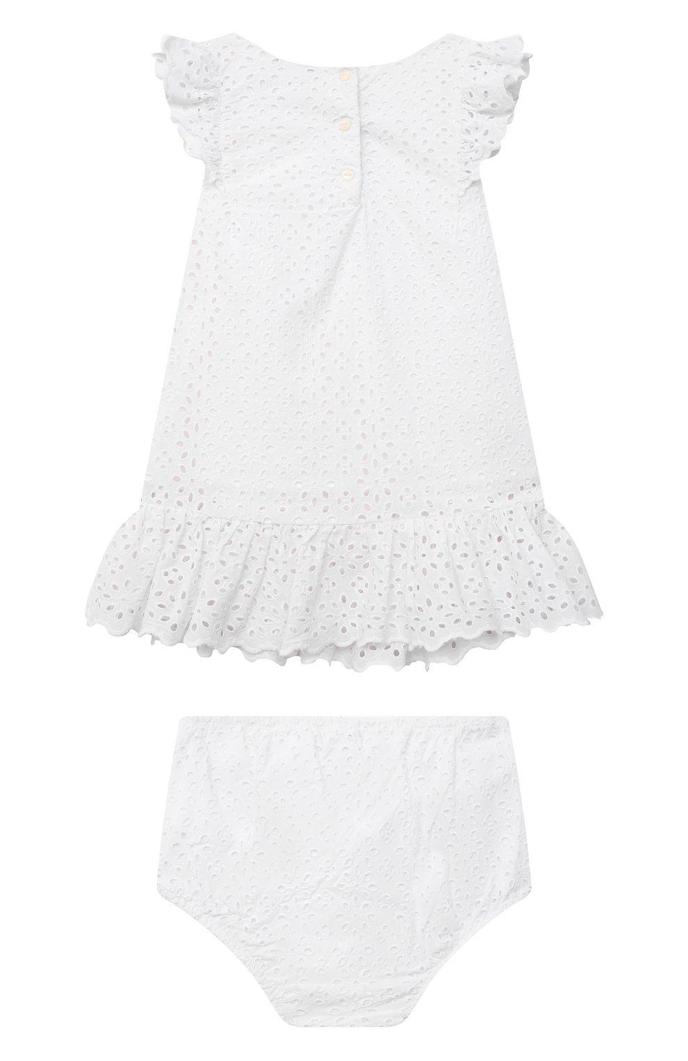 Женский комплект из платья и шорт POLO RALPH LAUREN белого цвета, арт. 310834814 | Фото 2