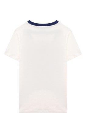 Детская льняная футболка LORO PIANA белого цвета, арт. FAL5921 | Фото 2