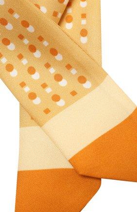 Женский шелковый шарф-бандо LORO PIANA желтого цвета, арт. FAL5500   Фото 2 (Материал: Текстиль, Шелк)