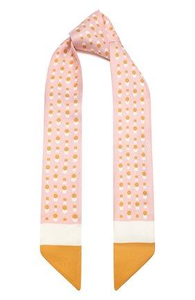 Женский шелковый шарф-бандо LORO PIANA розового цвета, арт. FAL5500   Фото 1