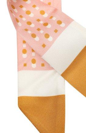 Женский шелковый шарф-бандо LORO PIANA розового цвета, арт. FAL5500   Фото 2