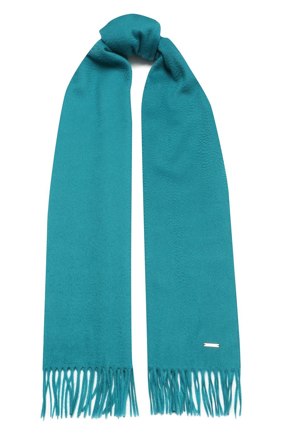 Женский кашемировый шарф grande unita LORO PIANA бирюзового цвета, арт. FAA1056   Фото 1 (Материал: Кашемир, Шерсть)