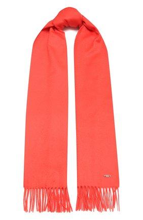 Женский кашемировый шарф grande unita LORO PIANA кораллового цвета, арт. FAA1056 | Фото 1 (Материал: Кашемир, Шерсть)