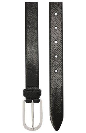 Женский кожаный ремень IRO черного цвета, арт. WP50MALIE   Фото 2