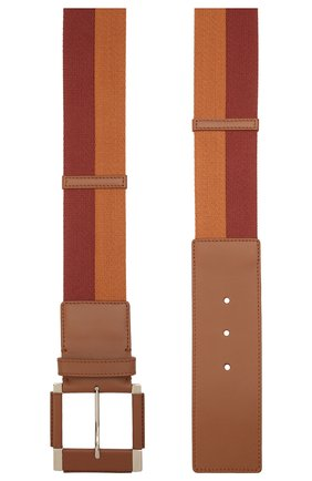 Женский текстильный пояс LORO PIANA коричневого цвета, арт. FAL6513   Фото 2 (Материал: Текстиль)