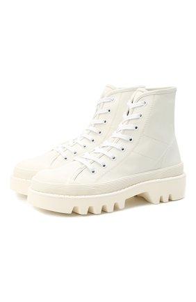 Комбинированные ботинки City Lace | Фото №1