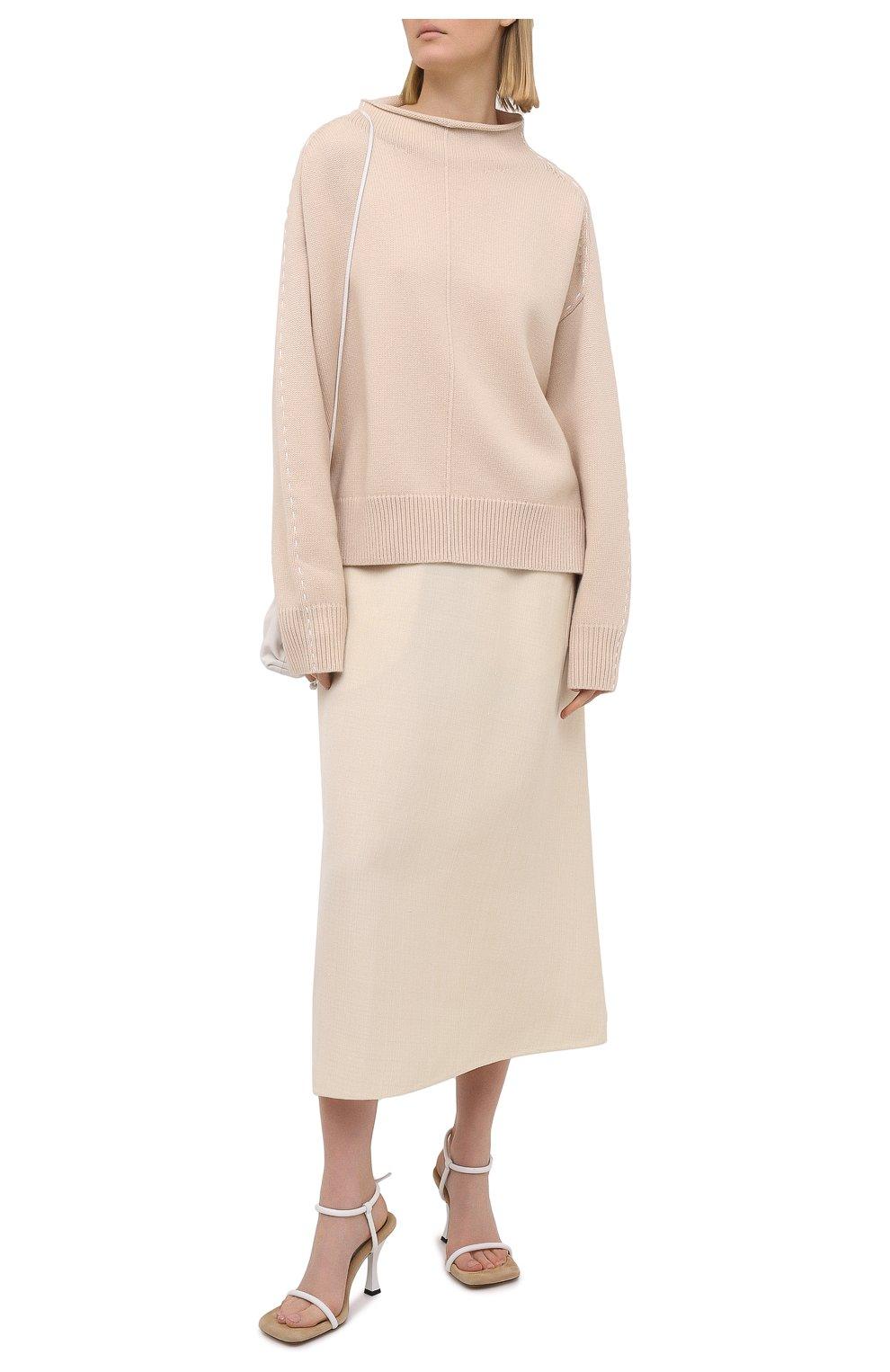Женские кожаные босоножки PROENZA SCHOULER белого цвета, арт. PS36021A/13015   Фото 2