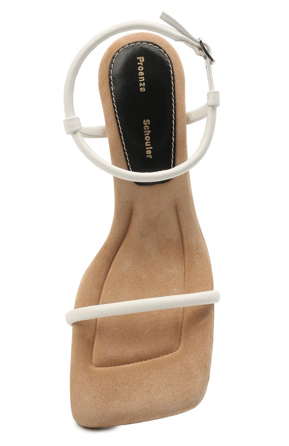 Женские кожаные босоножки PROENZA SCHOULER белого цвета, арт. PS36021A/13015   Фото 5
