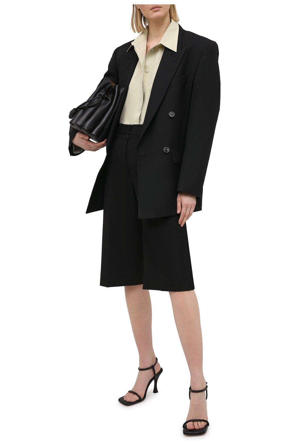 Женские кожаные босоножки PROENZA SCHOULER черного цвета, арт. PS36021A/13001 | Фото 2 (Подошва: Платформа; Каблук высота: Высокий; Материал внутренний: Натуральная кожа; Каблук тип: Шпилька)