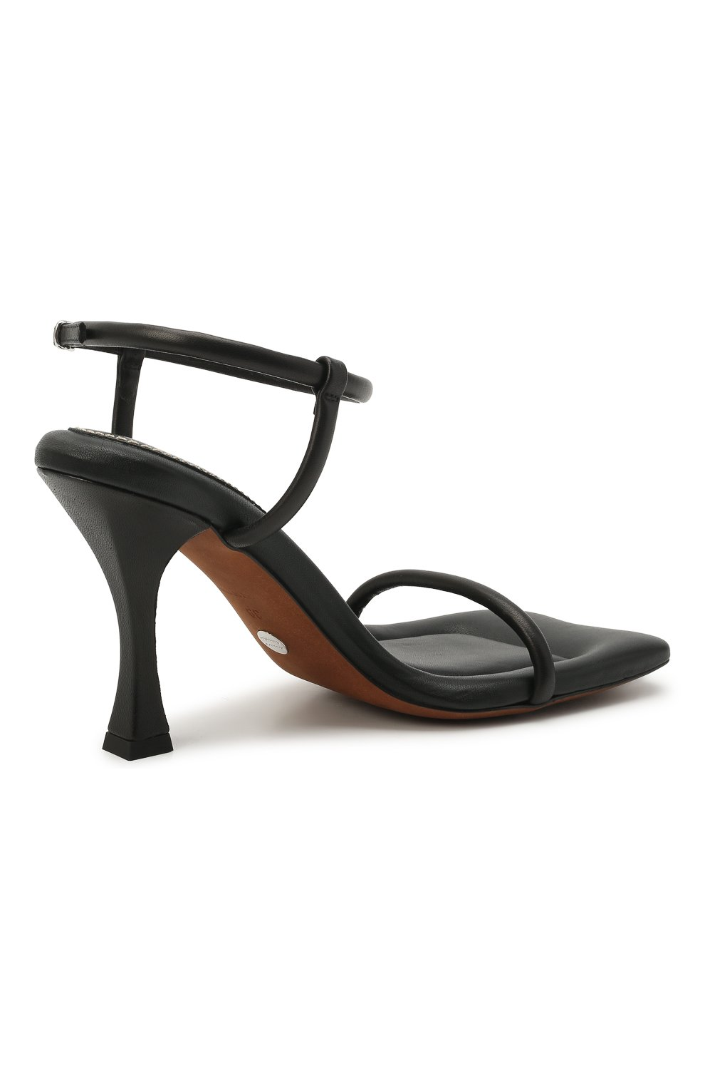 Женские кожаные босоножки PROENZA SCHOULER черного цвета, арт. PS36021A/13001 | Фото 4 (Подошва: Платформа; Каблук высота: Высокий; Материал внутренний: Натуральная кожа; Каблук тип: Шпилька)