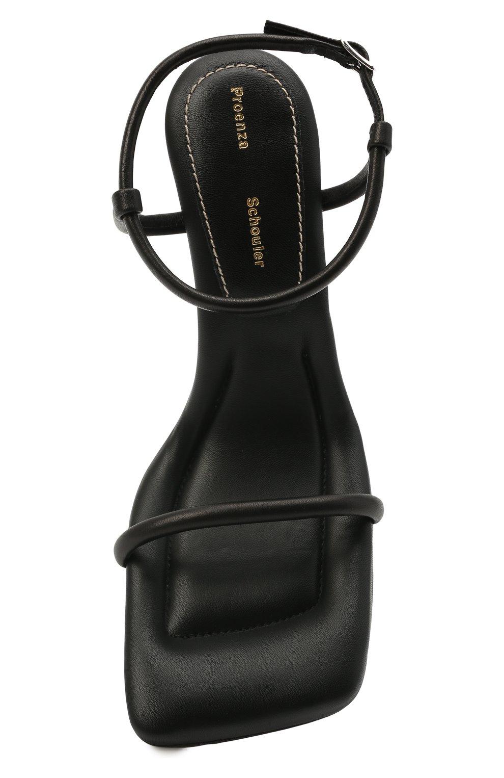 Женские кожаные босоножки PROENZA SCHOULER черного цвета, арт. PS36021A/13001 | Фото 5 (Подошва: Платформа; Каблук высота: Высокий; Материал внутренний: Натуральная кожа; Каблук тип: Шпилька)