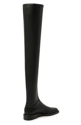 Женские комбинированные ботфорты PROENZA SCHOULER черного цвета, арт. PS36004B/13050 | Фото 4 (Материал внешний: Экокожа, Текстиль; Каблук высота: Низкий; Высота голенища: Высокие; Материал внутренний: Натуральная кожа; Каблук тип: Устойчивый; Подошва: Плоская)