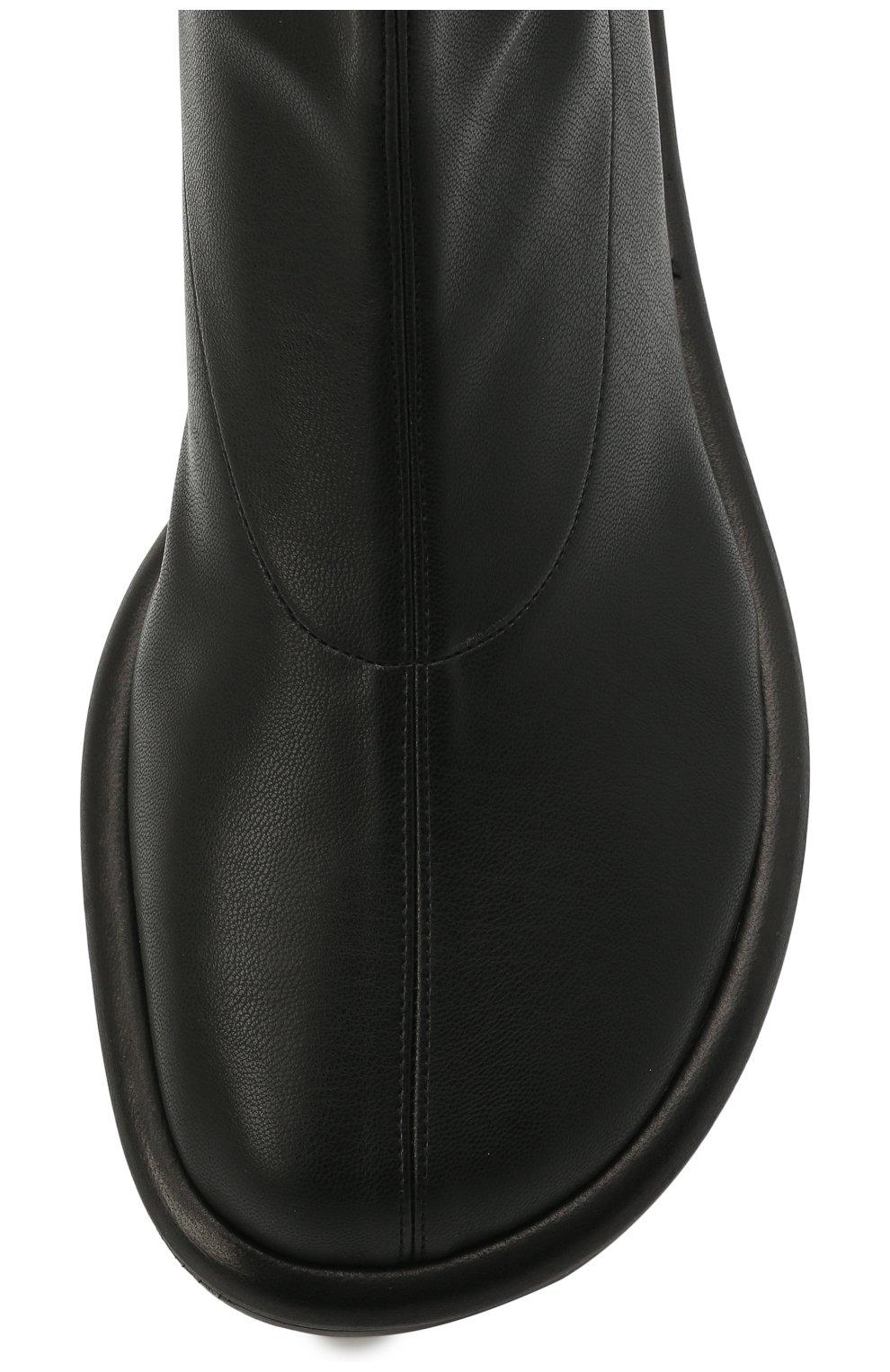 Женские комбинированные ботфорты PROENZA SCHOULER черного цвета, арт. PS36004B/13050 | Фото 5 (Материал внешний: Экокожа, Текстиль; Каблук высота: Низкий; Высота голенища: Высокие; Материал внутренний: Натуральная кожа; Каблук тип: Устойчивый; Подошва: Плоская)