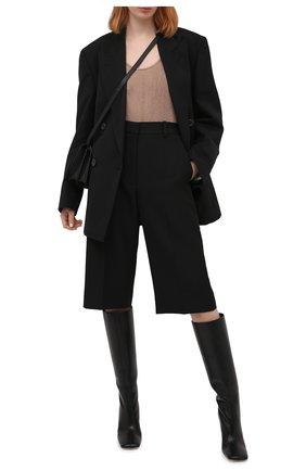 Женские кожаные сапоги PROENZA SCHOULER черного цвета, арт. PS35044B/12000   Фото 2
