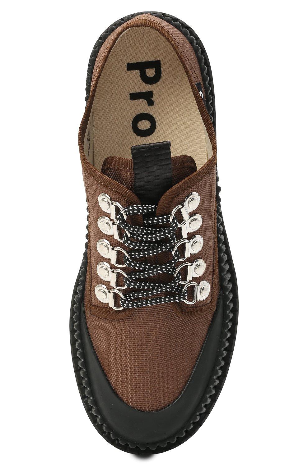 Женская текстильные ботинки PROENZA SCHOULER коричневого цвета, арт. PS32050A/13100   Фото 5