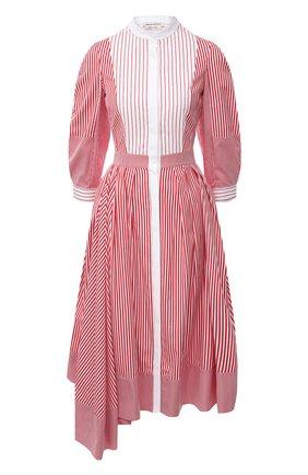 Женское хлопковое платье ALEXANDER MCQUEEN розового цвета, арт. 646599/QZAAJ | Фото 1