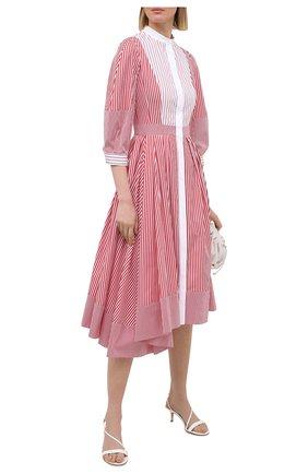 Женское хлопковое платье ALEXANDER MCQUEEN розового цвета, арт. 646599/QZAAJ | Фото 2