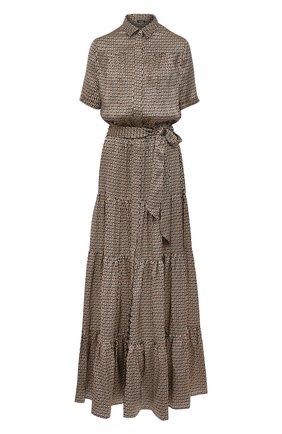 Женское шелковое платье KITON разноцветного цвета, арт. D51348K09T56 | Фото 1