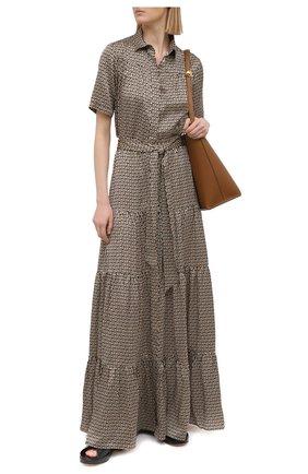 Женское шелковое платье KITON разноцветного цвета, арт. D51348K09T56 | Фото 2