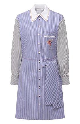 Женское хлопковое платье CHLOÉ голубого цвета, арт. CHC21SR075045 | Фото 1