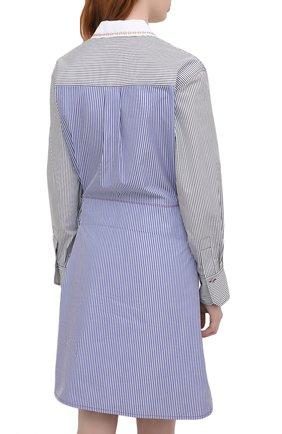 Женское хлопковое платье CHLOÉ голубого цвета, арт. CHC21SR075045   Фото 4