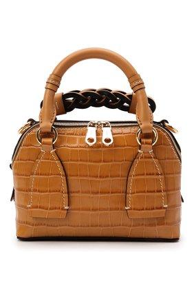 Женская сумка daria small CHLOÉ коричневого цвета, арт. CHC21SS361D87 | Фото 1