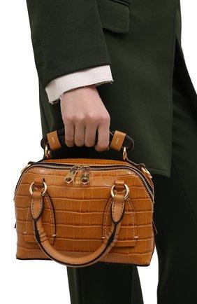 Женская сумка daria small CHLOÉ коричневого цвета, арт. CHC21SS361D87 | Фото 2