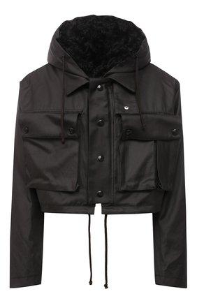 Женская куртка с меховой подкладкой BOTTEGA VENETA коричневого цвета, арт. 648118/V04C0 | Фото 1