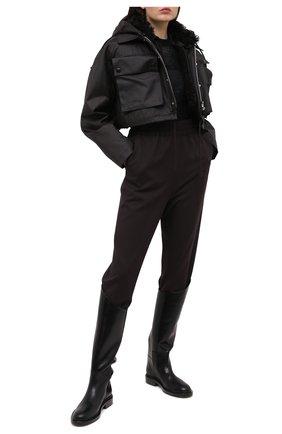 Женская куртка с меховой подкладкой BOTTEGA VENETA коричневого цвета, арт. 648118/V04C0 | Фото 2