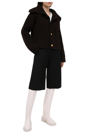 Женский шерстяной кардиган BOTTEGA VENETA коричневого цвета, арт. 652217/V0IL0 | Фото 2
