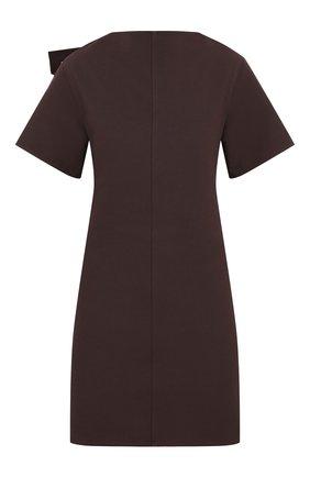 Женское хлопковое платье BOTTEGA VENETA бордового цвета, арт. 651743/V0BT0 | Фото 1