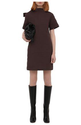 Женское хлопковое платье BOTTEGA VENETA бордового цвета, арт. 651743/V0BT0 | Фото 2