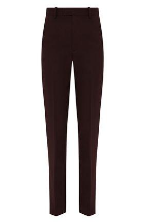 Женские шерстяные брюки BOTTEGA VENETA бордового цвета, арт. 647346/VKIS0 | Фото 1