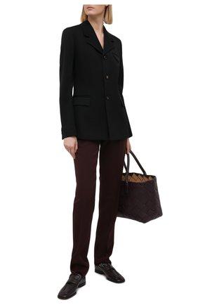 Женские шерстяные брюки BOTTEGA VENETA бордового цвета, арт. 647346/VKIS0 | Фото 2