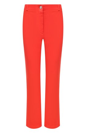 Женские джинсы LORO PIANA кораллового цвета, арт. FAL5554   Фото 1 (Силуэт Ж (брюки и джинсы): Расклешенные; Материал внешний: Хлопок; Длина (брюки, джинсы): Укороченные; Стили: Гламурный; Кросс-КТ: Деним)