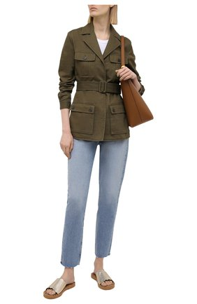 Женские кожаные шлепанцы essie SEE BY CHLOÉ золотого цвета, арт. SB35180A/13258 | Фото 2