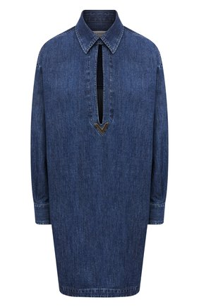 Женское джинсовое платье VALENTINO синего цвета, арт. VB3DBD26433 | Фото 1